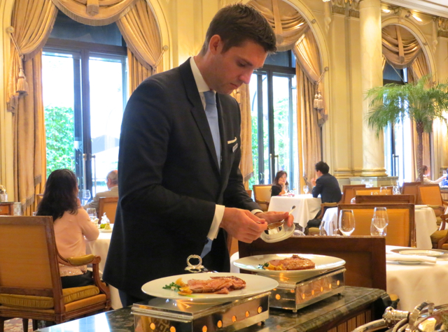 Le Cinq at Four Seasons Paris Restaurant Review - Tableside Plating
