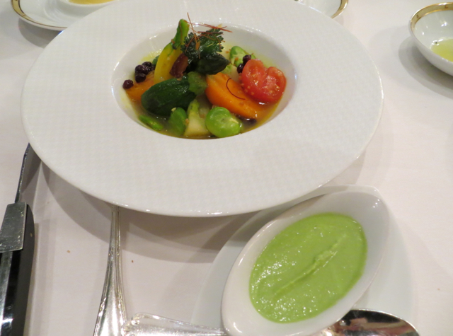 Le Cinq at Four Seasons Paris Restaurant Review - Young Vegetables