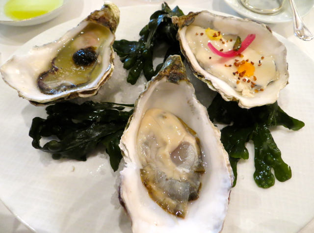 Le Cinq at Four Seasons Paris Restaurant Review - Oysters on the Half Shell