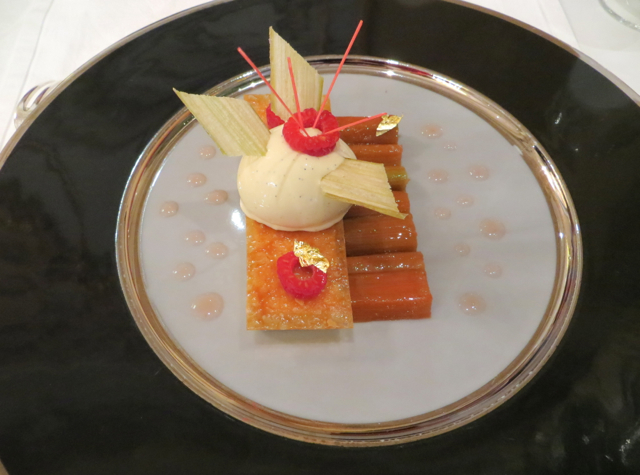 Le Cinq at Four Seasons Paris Restaurant Review - Rhubarb Dessert