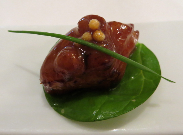 Le Cinq at Four Seasons Paris Restaurant Review - Glazed Octopus