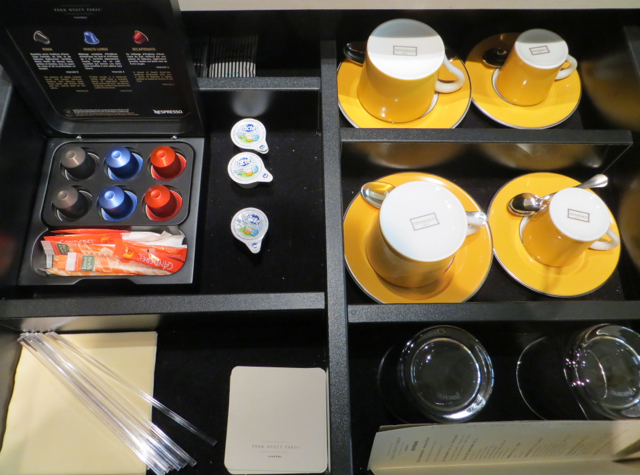 Park Hyatt Paris-Vendome Review - Nespresso capsules