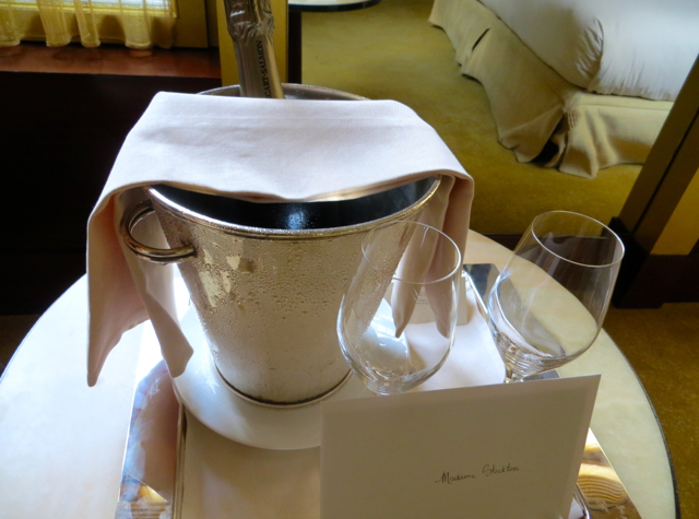 Park Hyatt Paris-Vendome Review - Champagne Welcome Amenity