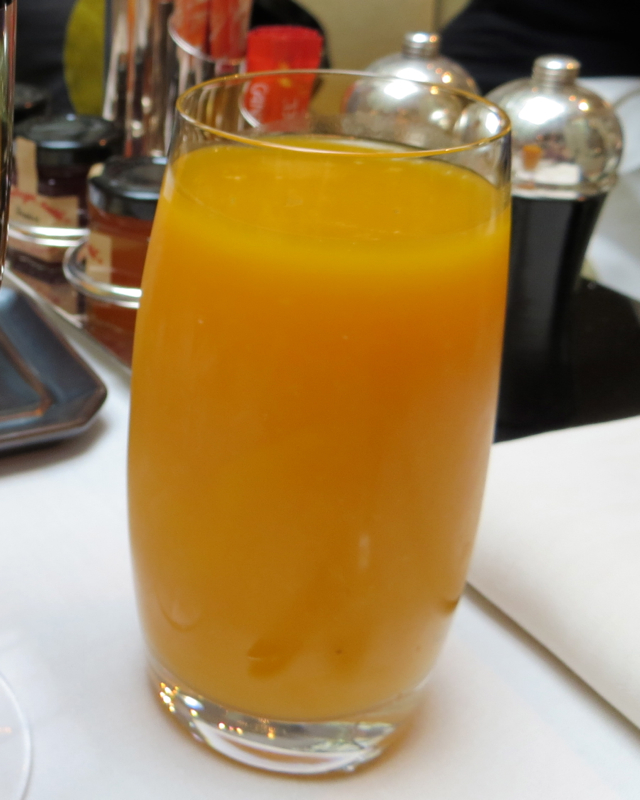 Park Hyatt Paris Breakfast Buffet Review - Mango Juice