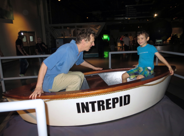 Intrepid Museum NYC Review - Life Boat
