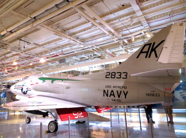 Intrepid Museum NYC Review - Navy Plane, Hangar Deck