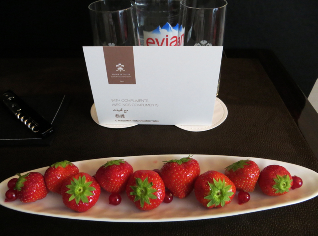 Prince de Galles Paris Hotel Review - Welcome Amenity Strawberries