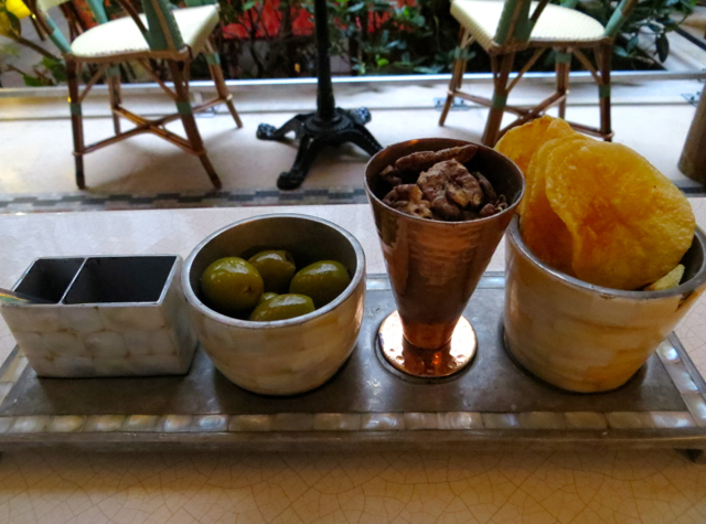 Prince de Galles Paris Hotel Review - Bar Snacks at Le Patio