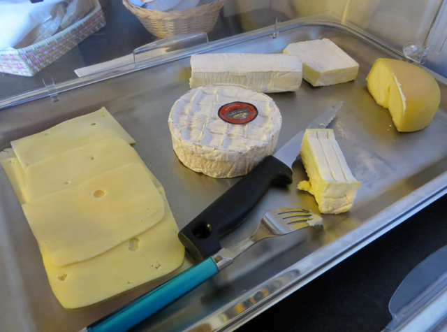 La Grande Eperviere Barcelonnette France Hotel Review - Breakfast Buffet Cheeses
