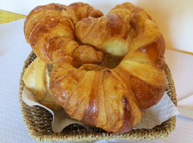 La Grande Eperviere Barcelonnette France Hotel Review - Breakfast Croissants