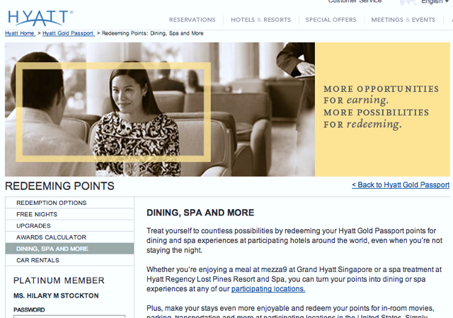use hyatt gold passport points to pay for dining or earn hyatt points for dining. Black Bedroom Furniture Sets. Home Design Ideas