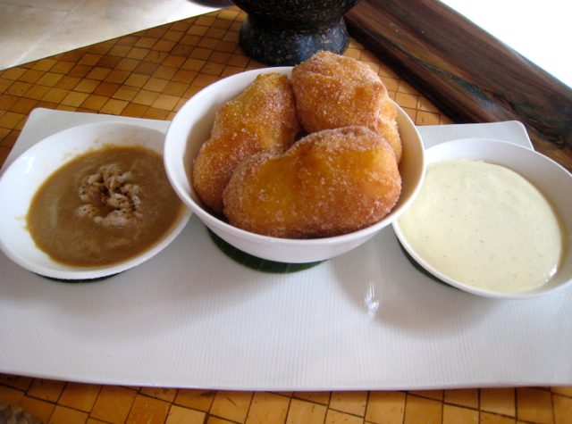 Amankila Bali Food - Breakfast - Moroccan Doughnuts with Custard and Espresso Granita