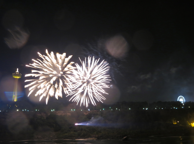 Cave of the Winds Niagara Falls Review - Fireworks at Night