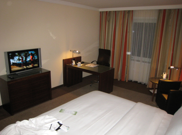 Westin Grand Frankfurt Hotel Review - Deluxe Room TV and Desk