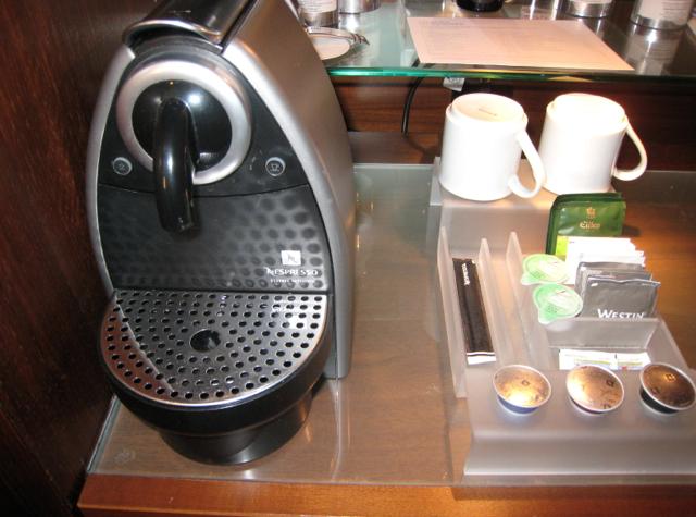 Westin Grand Frankfurt Hotel Review - Nespresso Machine