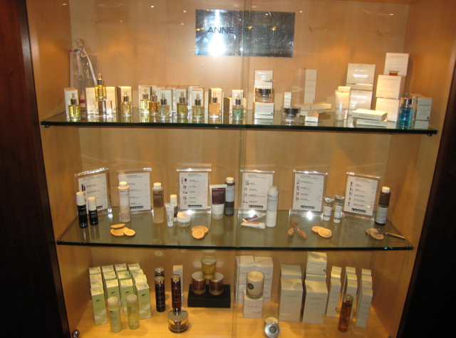 Westin Grand Frankfurt Hotel Review - Anne Semonin Products at Spa