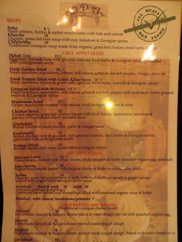 Oda House NYC Restaurant Review - Menu