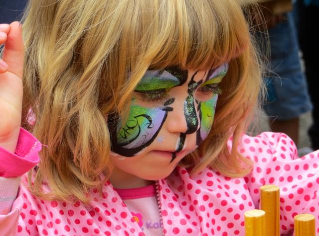 Provins France Fete de la Moisson (Harvest Festival) - Face Painting