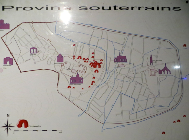 Provins, France Map of Les Souterrains (Underground Tunnels)