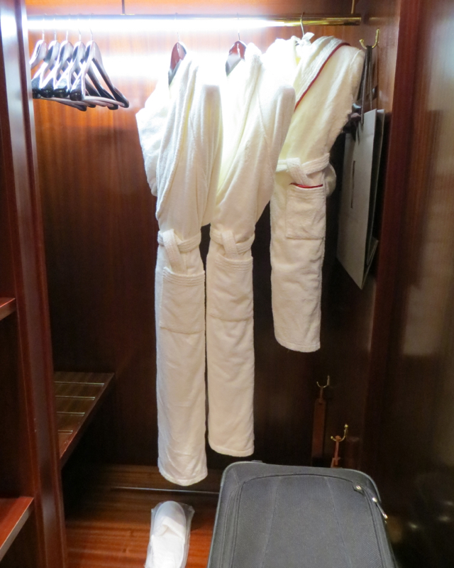 Hotel Fouquets Barriere Paris Hotel Review - Closet and Bathrobes