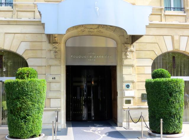 Hotel Fouquet's Barriere Paris Review - Entrance