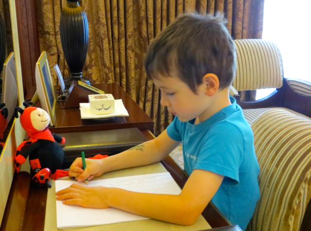 Hotel Fouquet's Barriere Paris Review - Drawing with Kids' Amenities