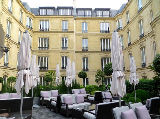 Hotel Fouquet's Barriere Paris Hotel Review - Galerie Joy Terrace