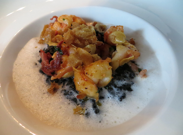 La Regalade Conservatoire Paris Review - Squid Ink Risotto with Shrimp