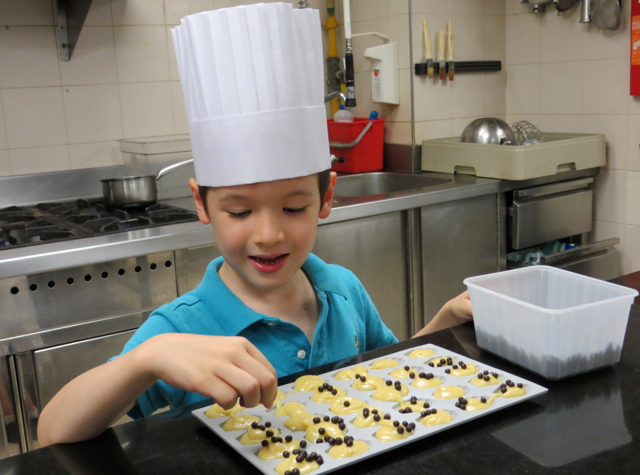 Four Seasons Paris Kids Pastry Lesson - Decorating Madeleines