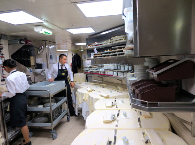 Four Seasons Paris Kitchen - Room Service Tables Being Prepared