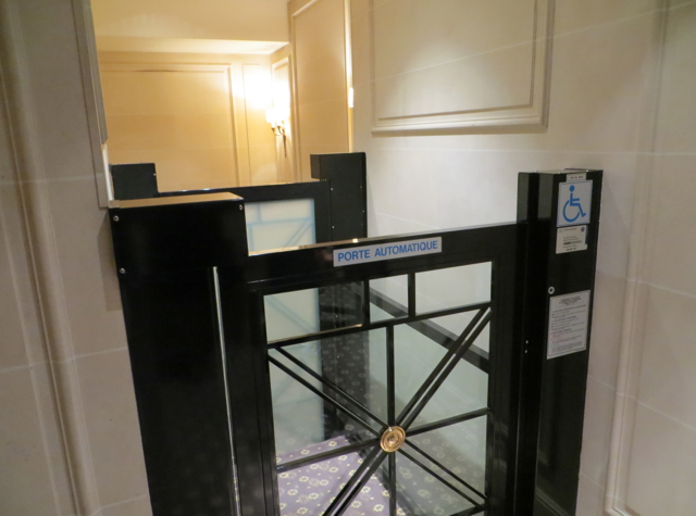 Four Seasons Paris Back of House Tour - Hidden Elevator for Wheelchairs