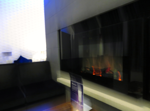 British Airways Concorde Room Cabana Review - Fireplace in Elemis Spa