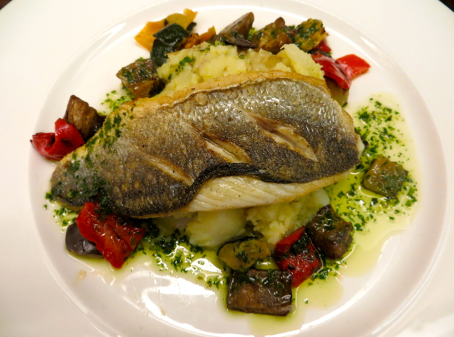 British Airways Concorde Room and Cabana Review - Seared Sea Bass