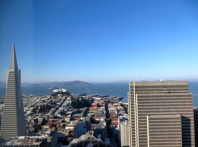Mandarin Oriental San Francisco Hotel Review - View of Transamerica Pyramid from Mandarin Bay Bridge Room