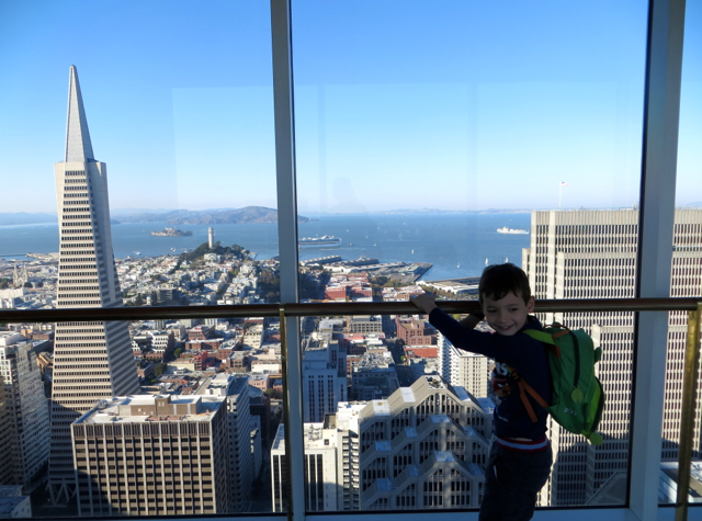Mandarin Oriental San Francisco Hotel Review - View of Transamerica Pyramid from Skybridge
