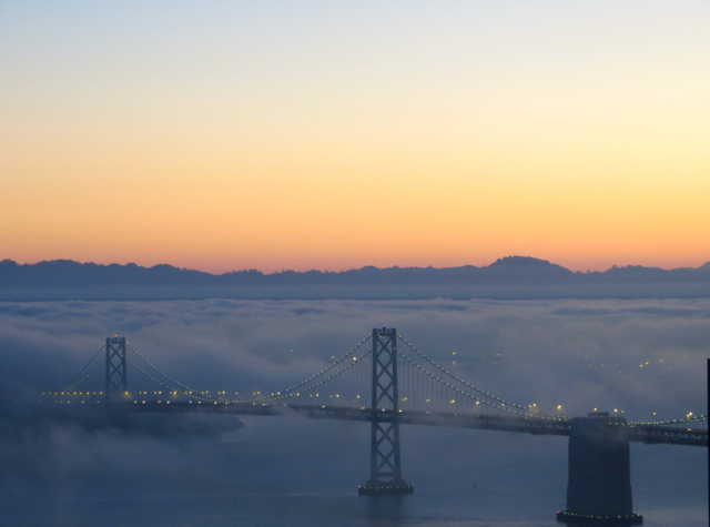 Mandarin Oriental San Francisco Hotel Review - View from Mandarin Bay Bridge Room at Sunrise