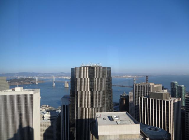 Mandarin Oriental San Francisco Hotel Review - View of Bay Bridge from Mandarin Bridge to Bridge Room