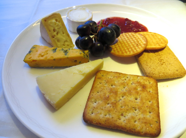British Airways New First Class Review - Cheese Plate