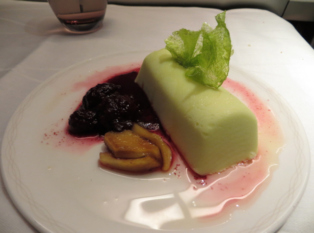 British Airways New First Class Review - Bramley Apple and Blackberry Terrine