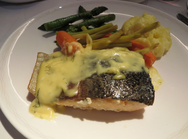 British Airways New First Class Review - Loch Fyne Sea Trout Main Course