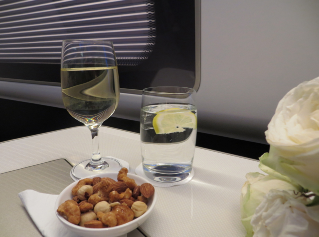 British Airways New First Class Review - Wine and Mixed Nuts