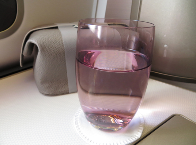 British Airways New First Class Review - Pre-Flight Drink and Amenity Kit