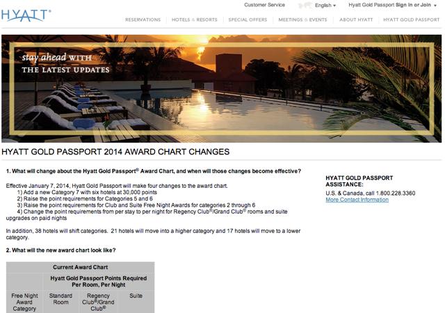 Hyatt Award Chart Devaluation: New Category 7 for 30K Points, Pricier Awards