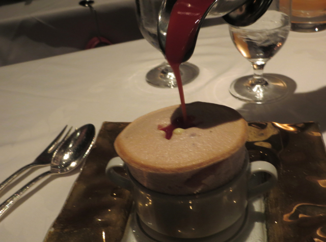 Review: Gary Danko, San Francisco: Strawberry Souffle with Strawberry Sauce