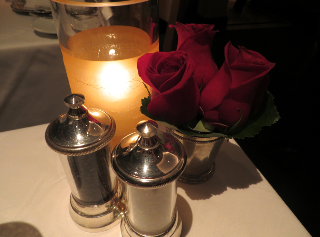 Review: Restaurant Gary Danko, San Francisco-Roses and Candle