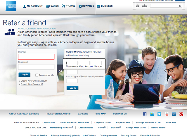 AMEX Refer a Friend: Up to 55K Bonus Points per Year (Targeted)
