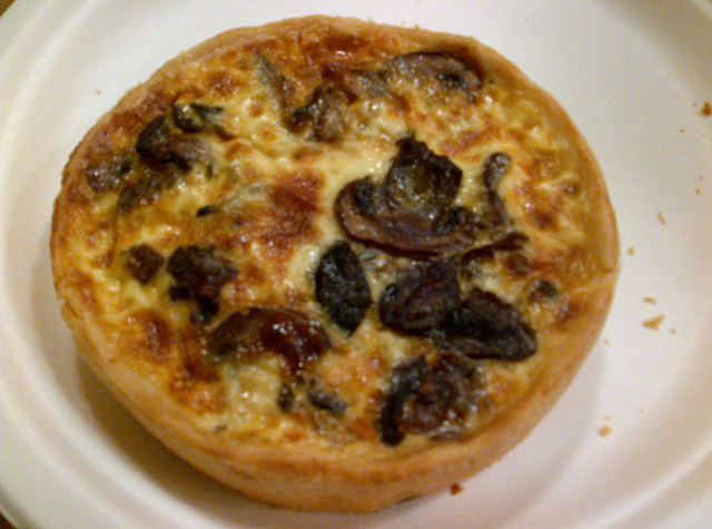 Breads Bakery NYC Review - Mushroom Quiche