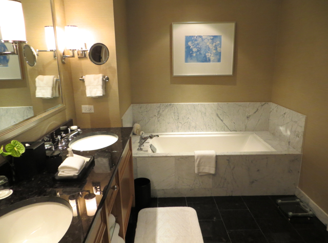 Four Seasons Boston State Suite Review - Marble Bathtub