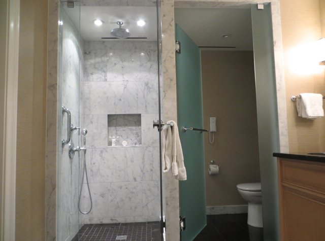 Four Seasons Boston State Suite Review - Rain Shower and Separate Toilet