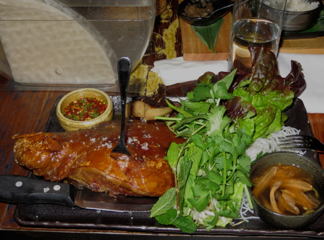 Khe-Yo NYC Review-Laotian in Tribeca - Crispy Pig Face